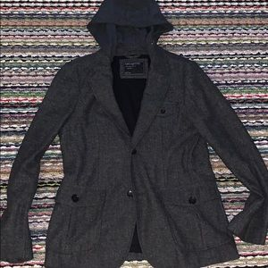 🔥😎 Men's Wool Tweed Jacket w/ Hoodie
